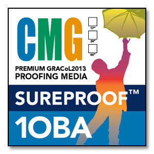 CMG SureProof 1OBA - 100' Premium Proofing Media