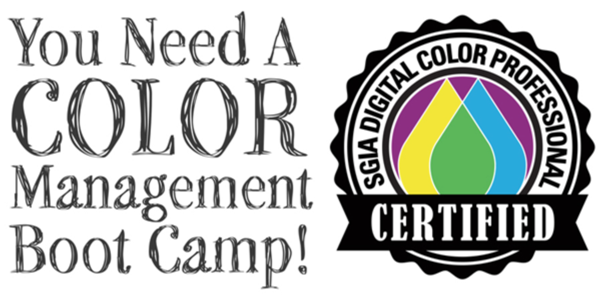 SGIA Color Management Boot Camp - Sacramento, CA 12/10-12, 2019